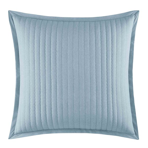 Locklear Mineral European Sham in Pastel Blue - Castaway Aqua