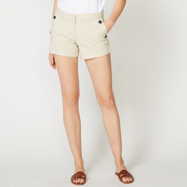 "4"" STRETCH TWILL SAILOR SHORTS - Oyster Bay Heather"