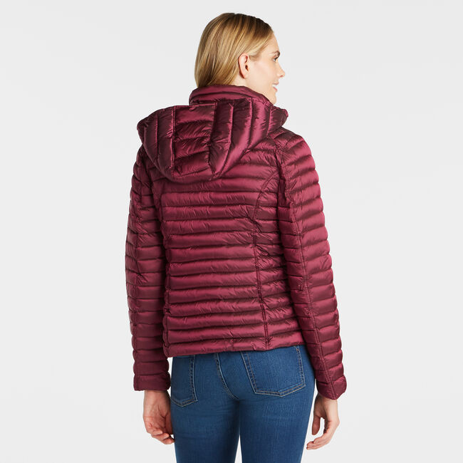 WOMEN'S QUILTED PACKABLE COAT,Seaside Red,large