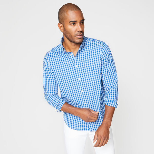CLASSIC FIT GINGHAM POPLIN SHIRT - Varsity Blue Wash