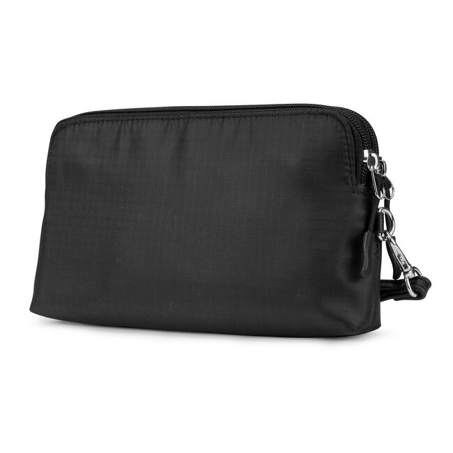 Captain's Quarters Soft Wallet with Battery Charger,True Black,large