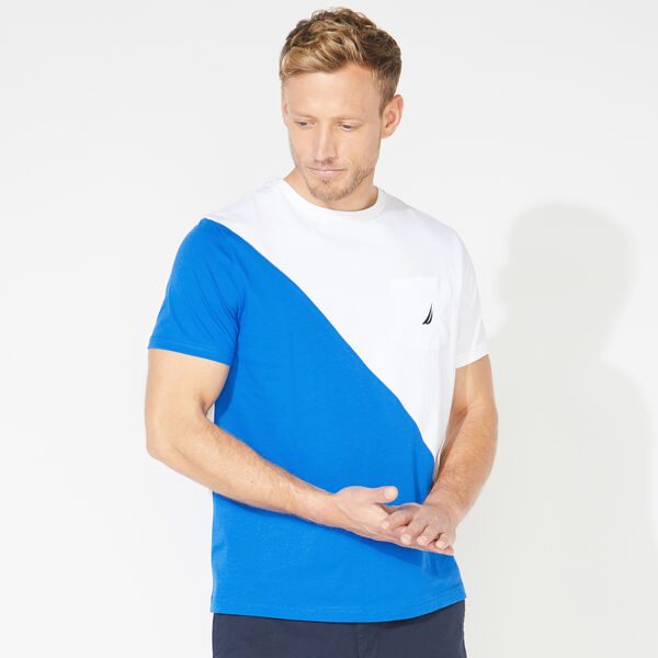 COLORBLOCK POCKET TEE - Bright White