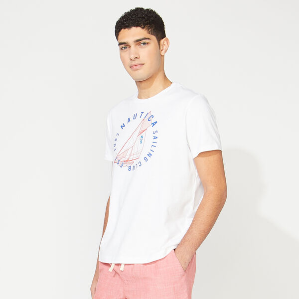 NAUTICA SAILING CLUB GRAPHIC T-SHIRT - Bright White