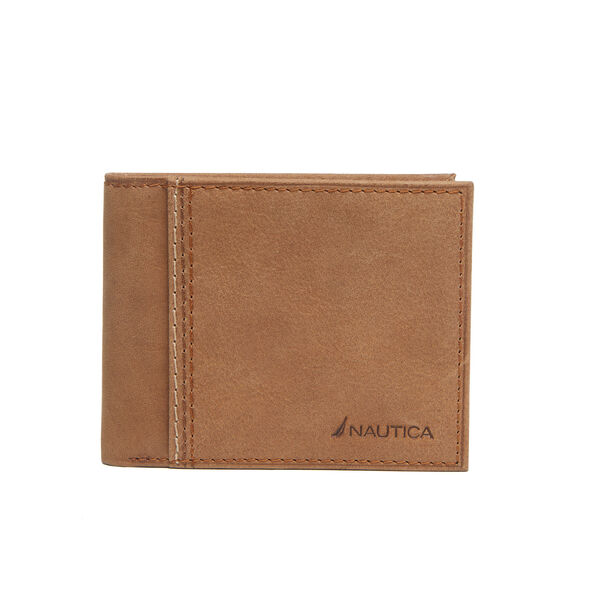 Claudio Fixed Passcase Wallet - Military Tan
