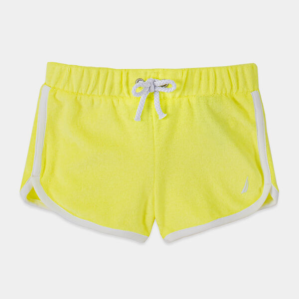 TODDLER GIRLS' TERRY DOLPHIN SHORTS (2T-4T) - Light Yellow