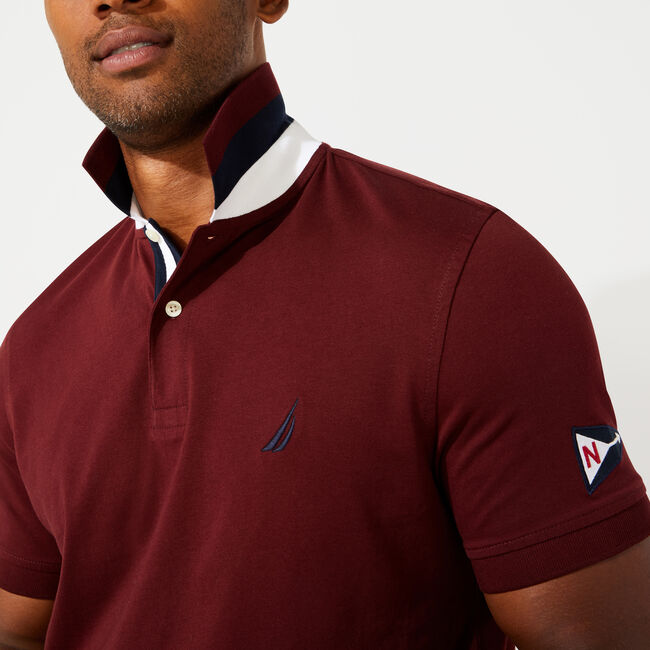 CLASSIC FIT SOLID POLO,Royal Burgundy,large