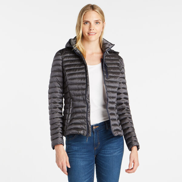 WOMEN'S QUILTED PACKABLE COAT - Shipside Grey Heather