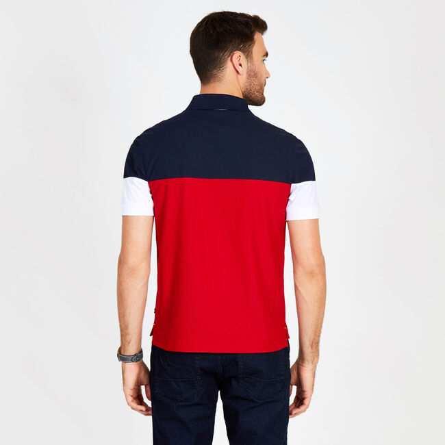 Big & Tall Logo Navtech Pique Classic Fit Polo,Nautica Red,large
