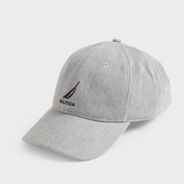 J-CLASS EMBROIDERED CAP - Grey Heather