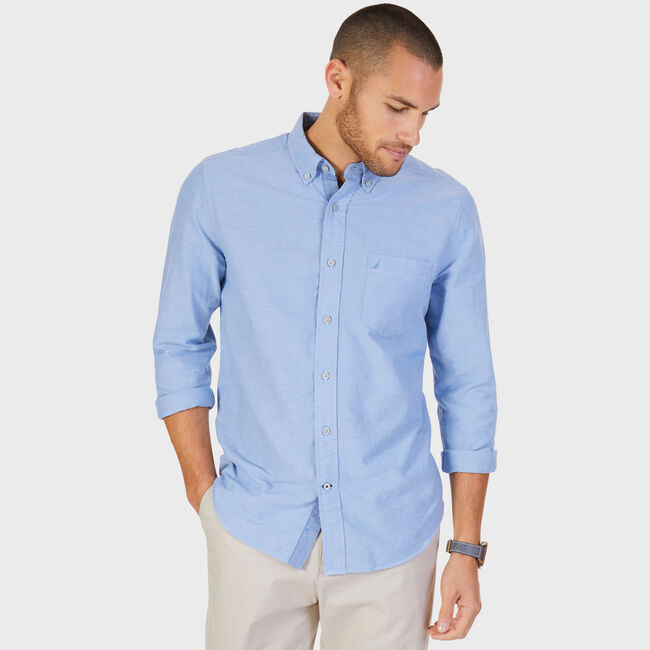 TWILL OXFORD SHIRT,Noon Blue,large