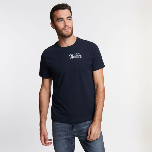 Big & Tall Maritime Sailing Short Sleeve T-Shirt - Navy