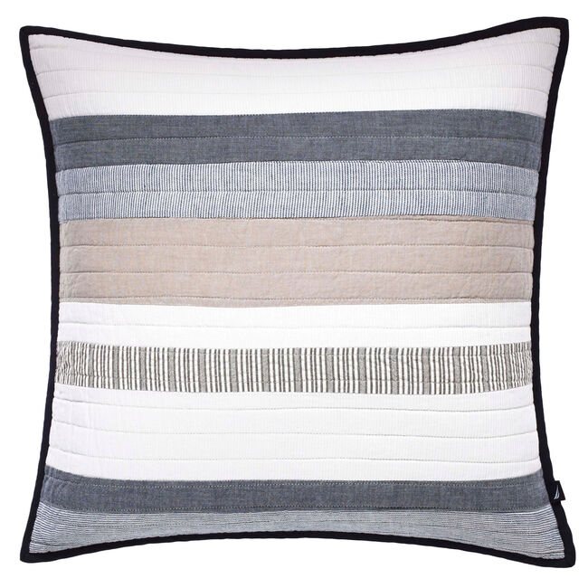 Tideway Quilted Throw Pillow,Multi,large