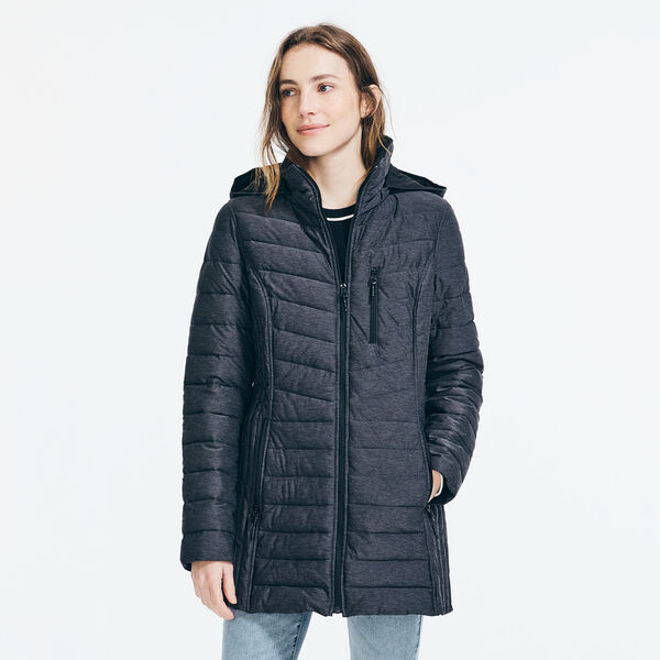 LIGHTWEIGHT QUILTED STRETCH COAT - Shipside Grey Heather