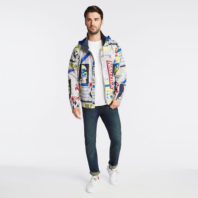 LIGHTWEIGHT ALL OVER PRINT JACKET,High Rise,large