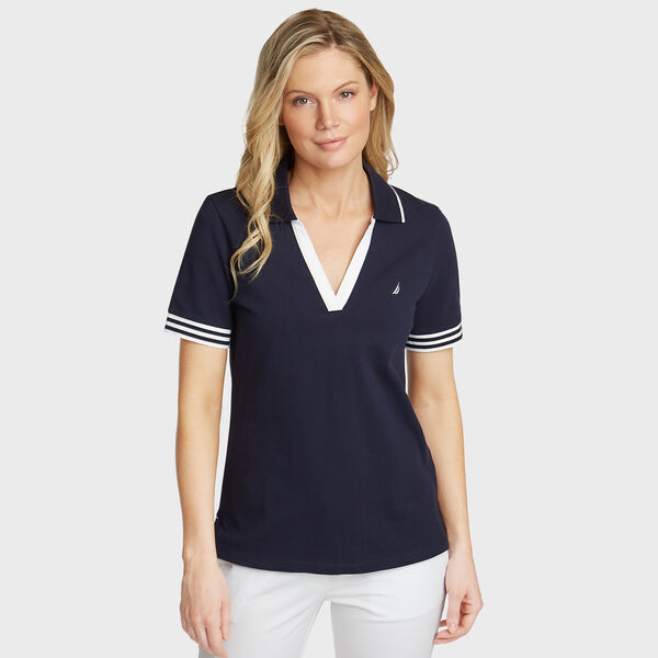Elbow Sleeve Classic Fit Polo - Deep Sea