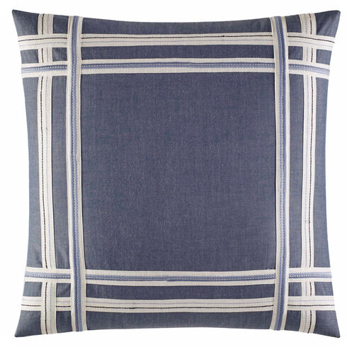 Fairwater Chambray Taped Applique Throw Pillow