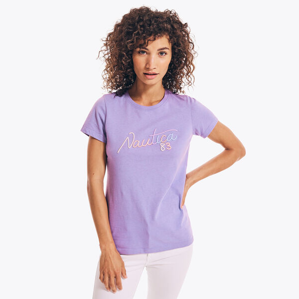 SUSTAINABLY CRAFTED NAUTICA 83 GRAPHIC T-SHIRT - Ocean Violet