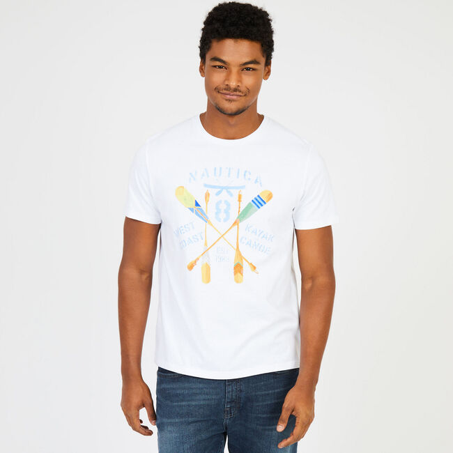 Boating Graphic Slim Fit T-Shirt,Bright White,large