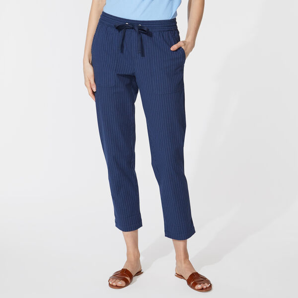 INK STRIPE CUFFED PANT - Blue Depths