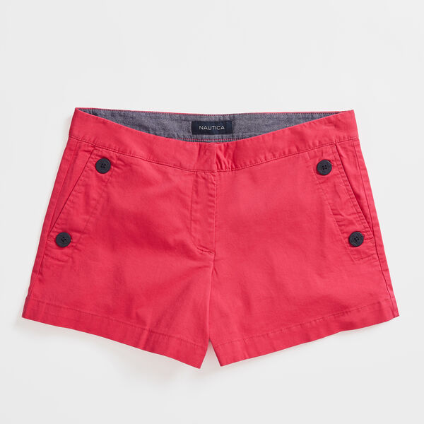"4"" STRETCH TWILL SAILOR SHORTS - Port Scarlet"