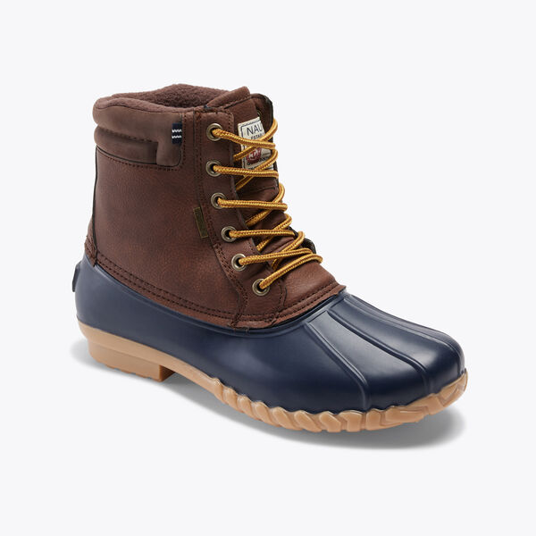 WATER-RESISTANT LACE-UP DUCK BOOT - Military Tan
