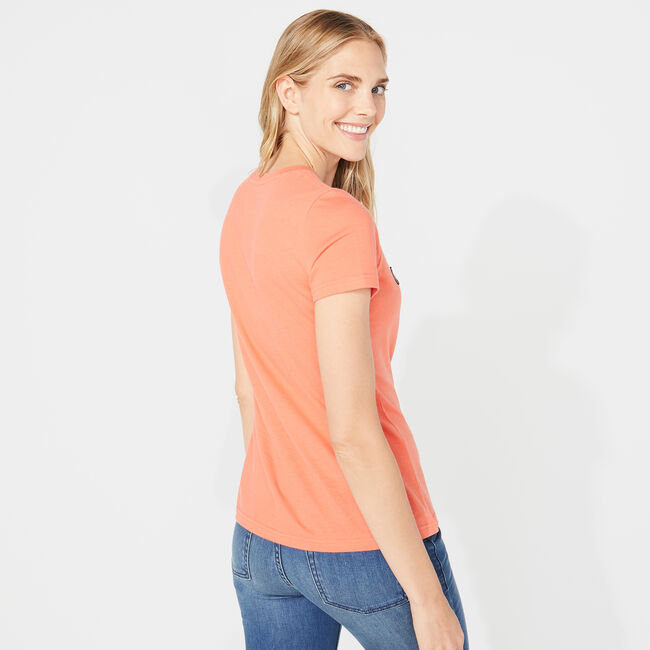 NAUTICA SCRIPT TEE,Livng Coral,large