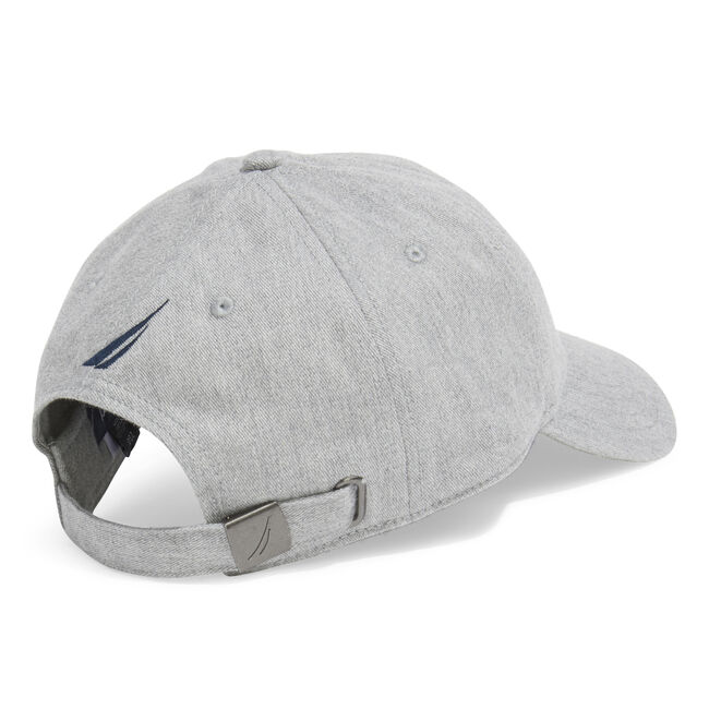 OVAL NAUTICA FLAG PATCH BASEBALL CAP,Grey Heather,large