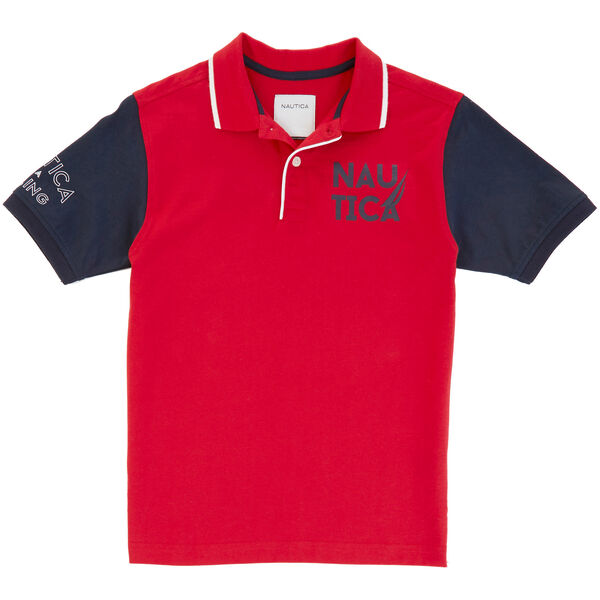 Little Boys' Contrast Heritage Polo Shirt (2T-7) - Island Pink