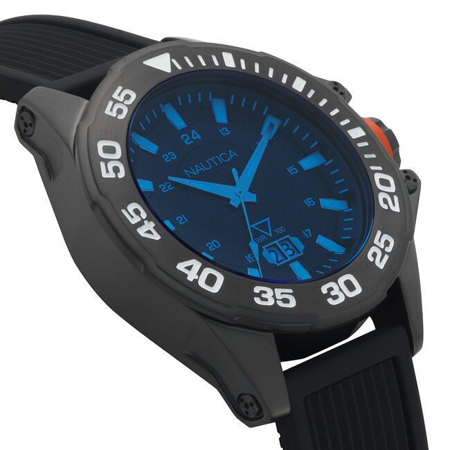 Westview Silicone 3-Hand Watch - Black,Multi,large