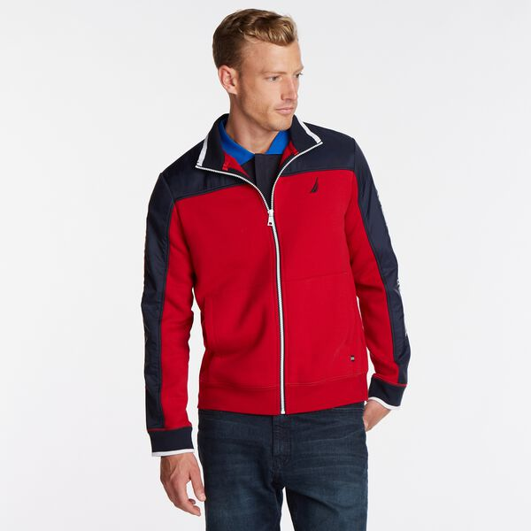 COLORBLOCK FLEECE TRACK JACKET - Nautica Red
