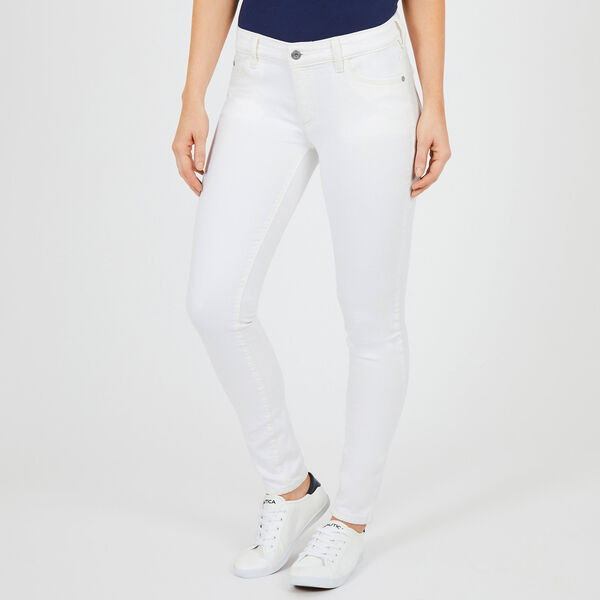 Flat Front Skinny Fit Jeans - Bright White