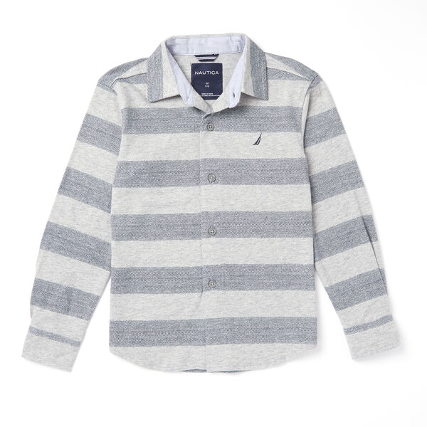 Toddler Boys' Jersey Stripe Shirt (2T-3T) - Grey Heather