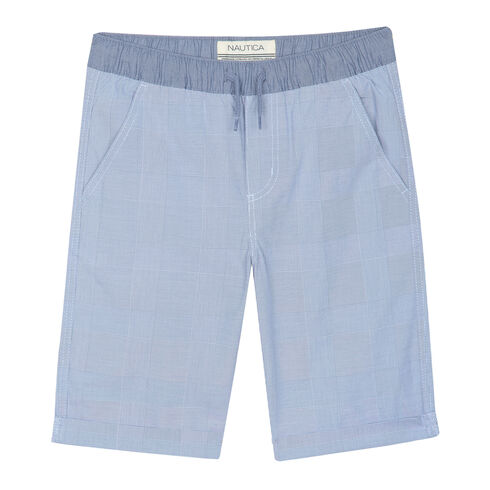 Boys' Caleb Cuffed Chambray Shorts (8-20) - Blue Mirage