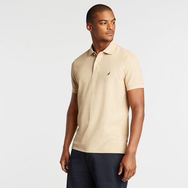 SLIM FIT PERFORMANCE DECK POLO - Camel Heather