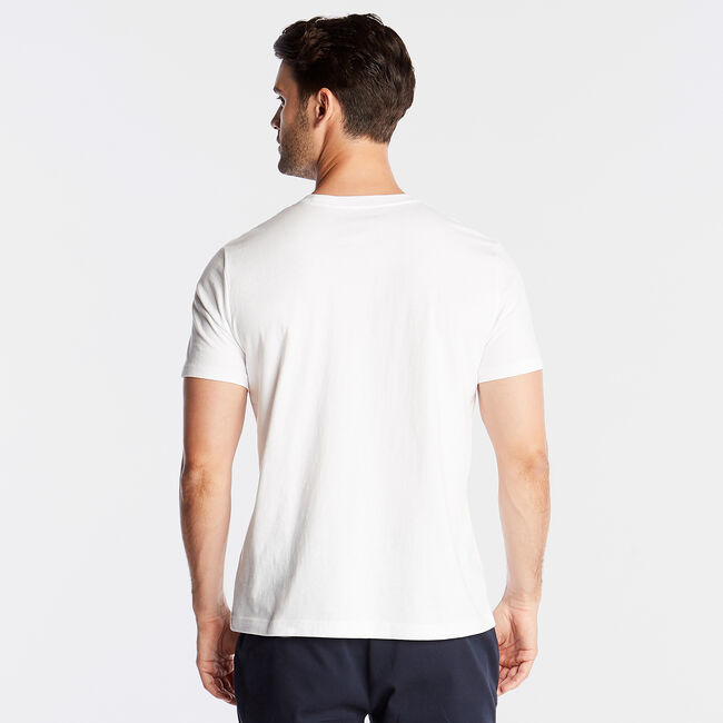 CLASSIC FIT JERSEY T-SHIRT IN LOGO APPLIQUÉ,Bright White,large