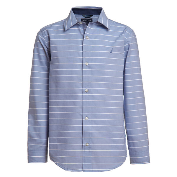 BOYS' STRIPED J-CLASS SHIRT (8-20) - Bright Cobalt