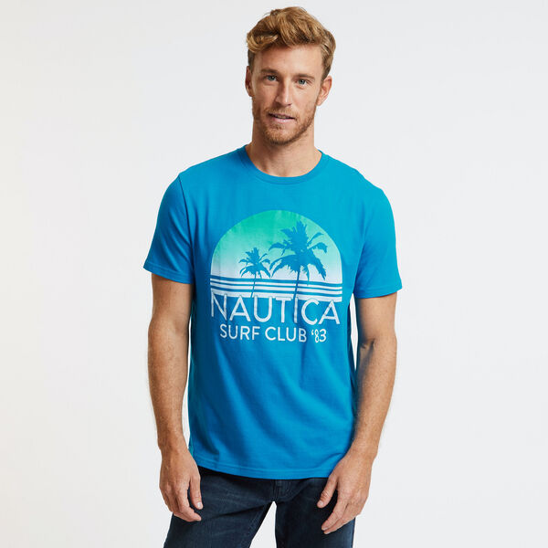 Ombre Sunset Surf Club T-Shirt - Noon Blue