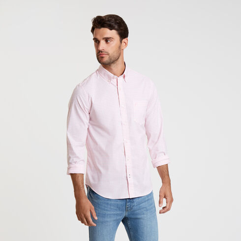 Wrinkle-Resistant Slim Fit Shirt in Plaid - Orchid Pink