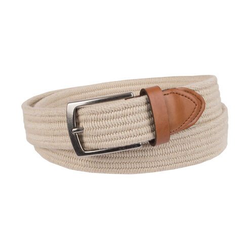 Stretch Braided Belt - Tuscany Tan