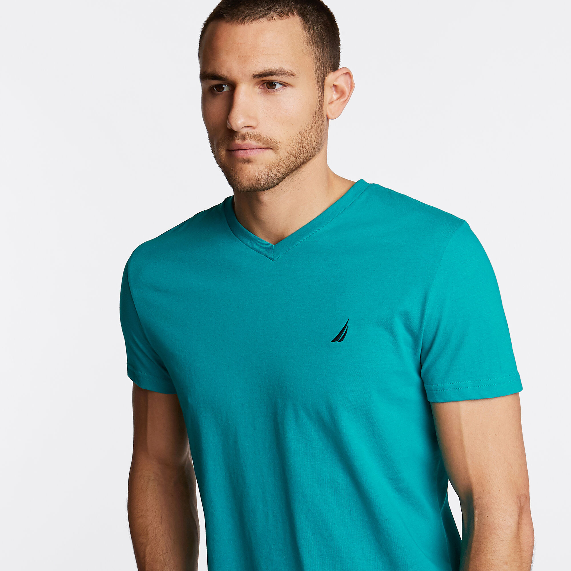 Nautica-Mens-V-Neck-Short-Sleeve-T-Shirt thumbnail 23