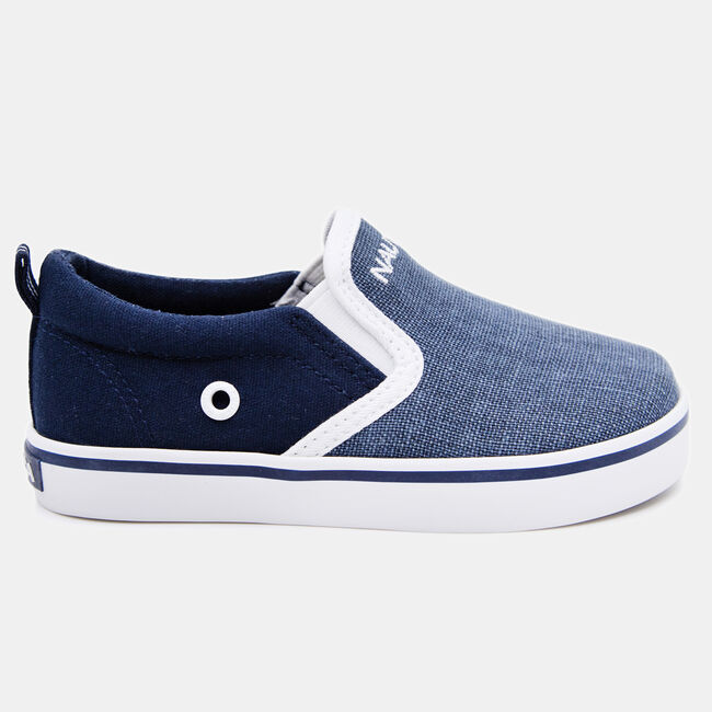 BOY'S WOVEN CANVAS SNEAKER,Starlight Blue,large