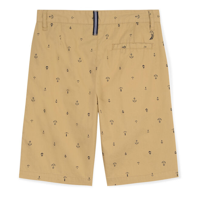 Little Boys' Tim Shorts in Anchor Print (4-7),Dark Oatmeal Heather,large