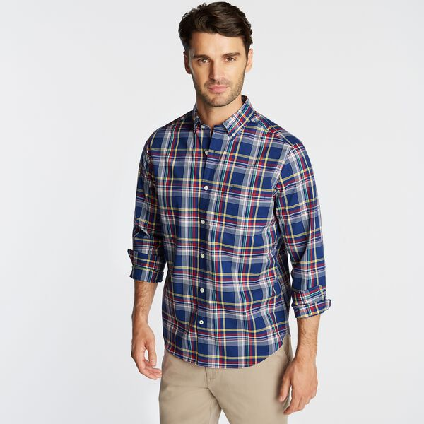 CLASSIC FIT WRINKLE-RESISTANT PLAID SHIRT - Blue Depths