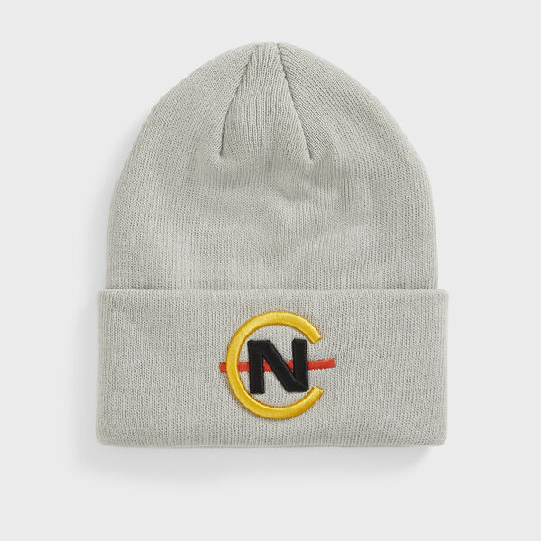 COMPETITION RIBBED-KNIT LOGO BEANIE - Grey Carbon