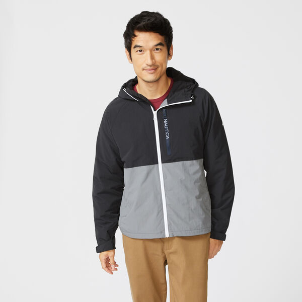 COLORBLOCK HOODED JACKET - Grey Shadow