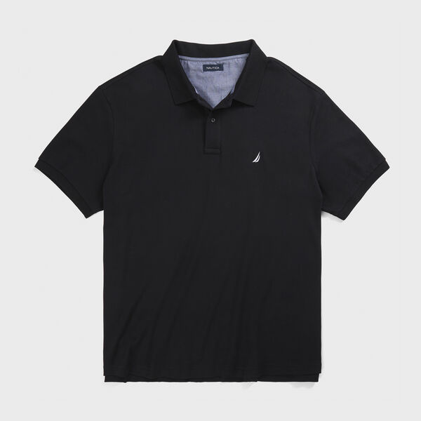 CLASSIC FIT INTERLOCK POLO - True Black