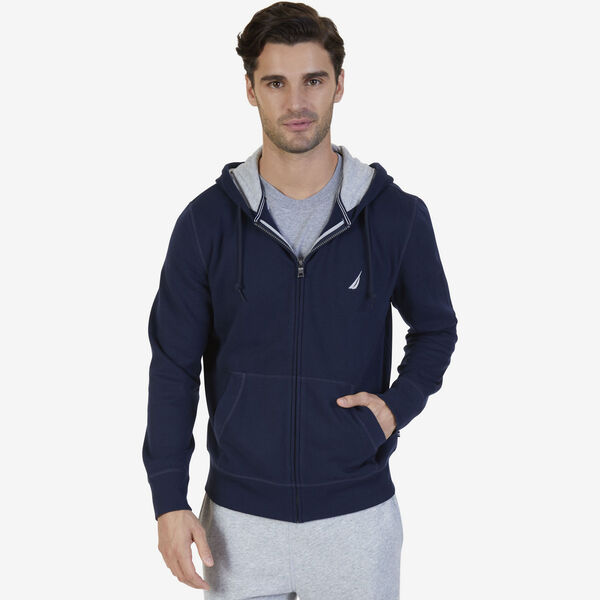 BIG & TALL FULL ZIP HOODIE - Navy