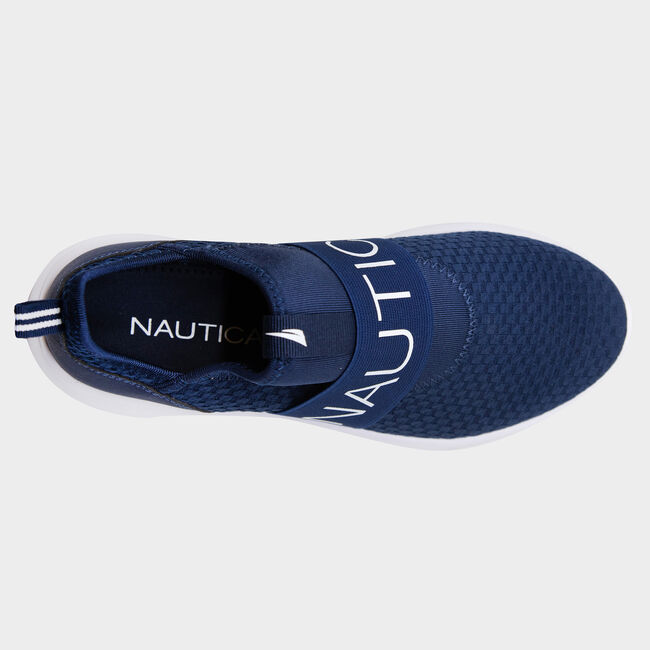 ROSEMONT EMBROIDERED LOGO SNEAKERS,Navy,large