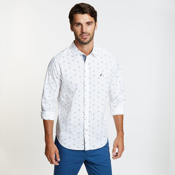 Long Sleeve Classic Fit Icon Shirt - Bright White
