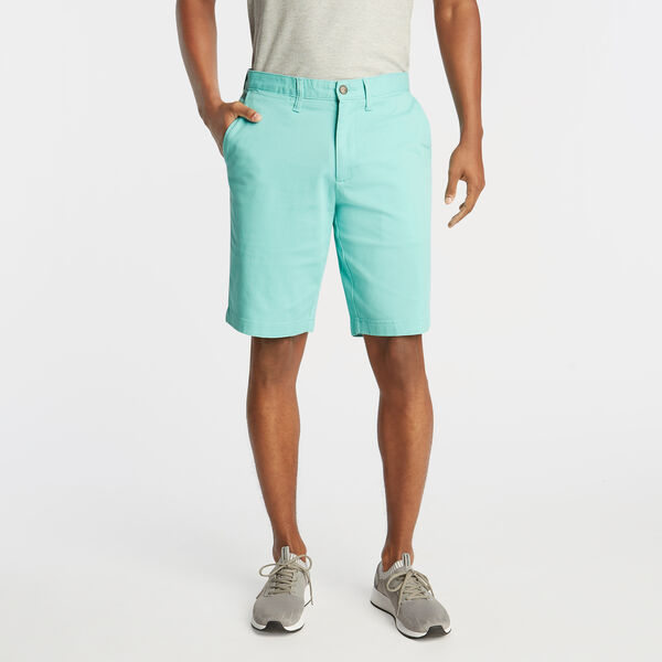 "10"" CLASSIC FIT DECK SHORTS WITH STRETCH - Pool Side Aqua"
